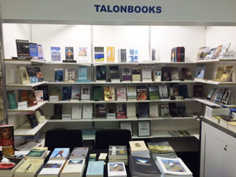 [the Talonbooks booth at Congress 2016]