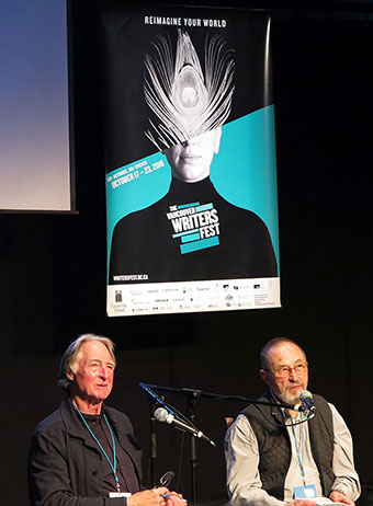 [Fred Wah and Colin Browne at the Vancouver Writers' Fest, October 2016]