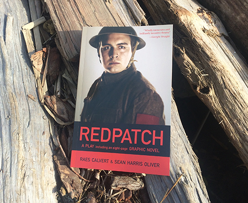 Picture of Redpatch on a log by the Fraser River in Vancouver.