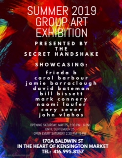 Summer 2019 group art exhibit poster.