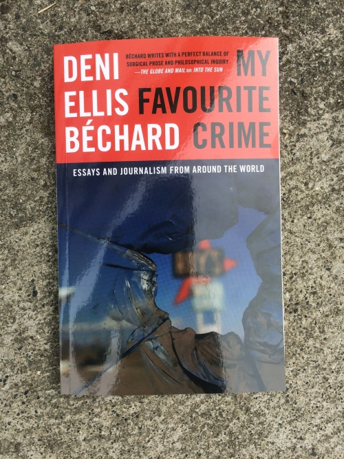 Deni Ellis Béchard's My Favourite Crime on city pavement.