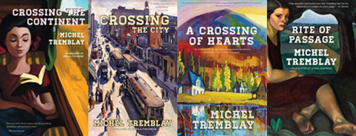 Covers of Crossing the Continent, Crossing the City, A Crossing of Hearts, Rite of Passage