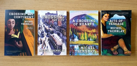 Image of four covers of the Desrosiers Diaspora