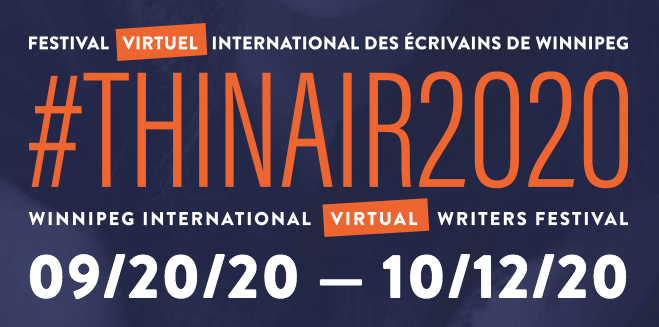 Winnipeg #ThinAir2020 logo and date, Sept 20 to Oct 12 2020.