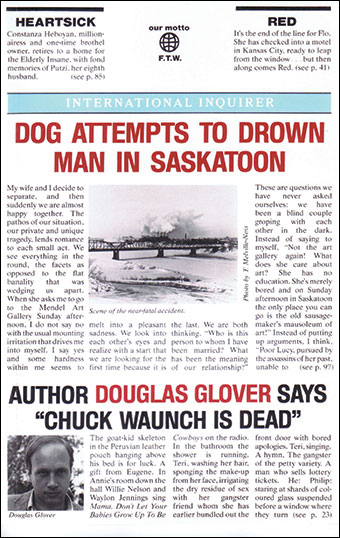 Dog Attempts to Drown Man in SaskatoonFront Cover
